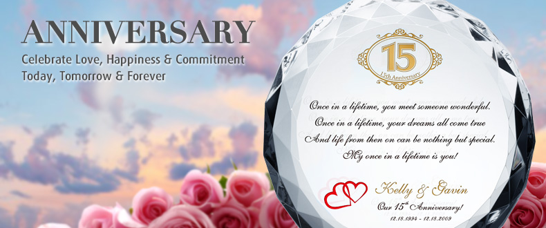 Crystal Wedding Anniversary Gifts For Her: Celebrate Your Love: Wedding Anniversary Quotes, Messages
