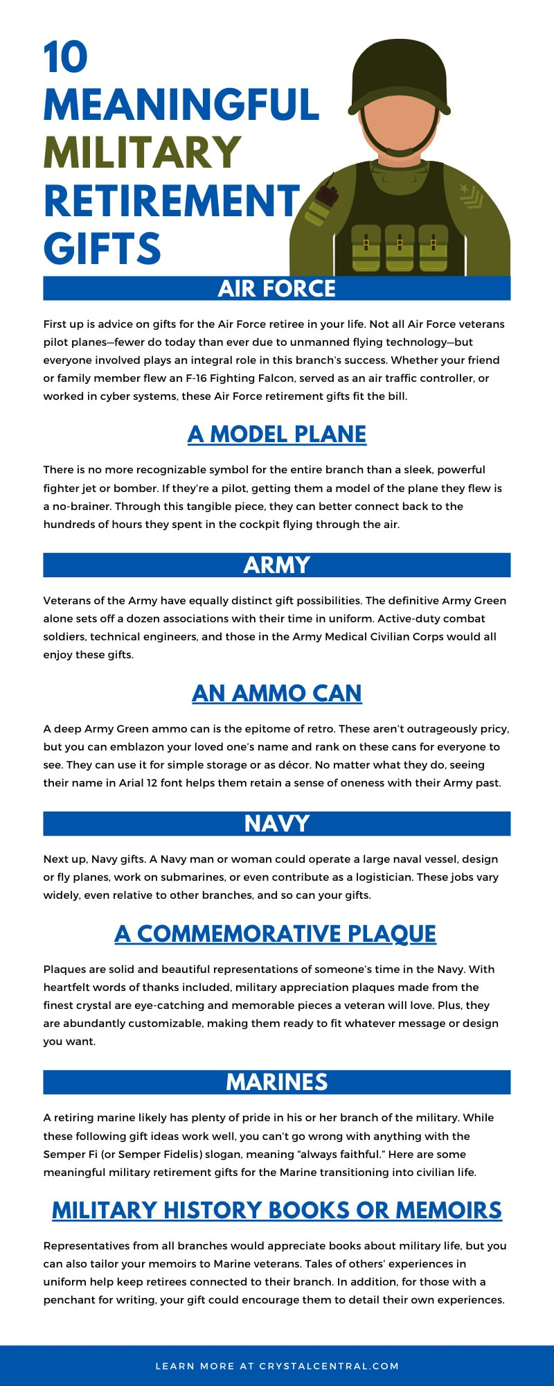 10 Meaningful Military Retirement Gifts