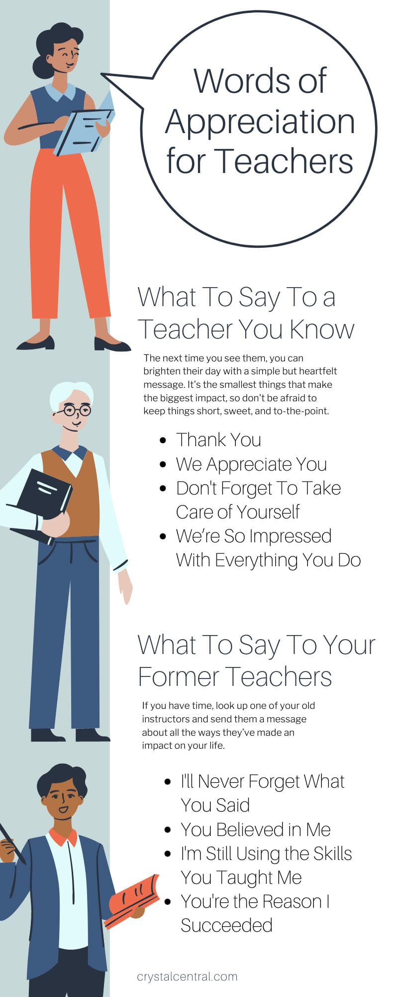 Words of Appreciation for Teachers