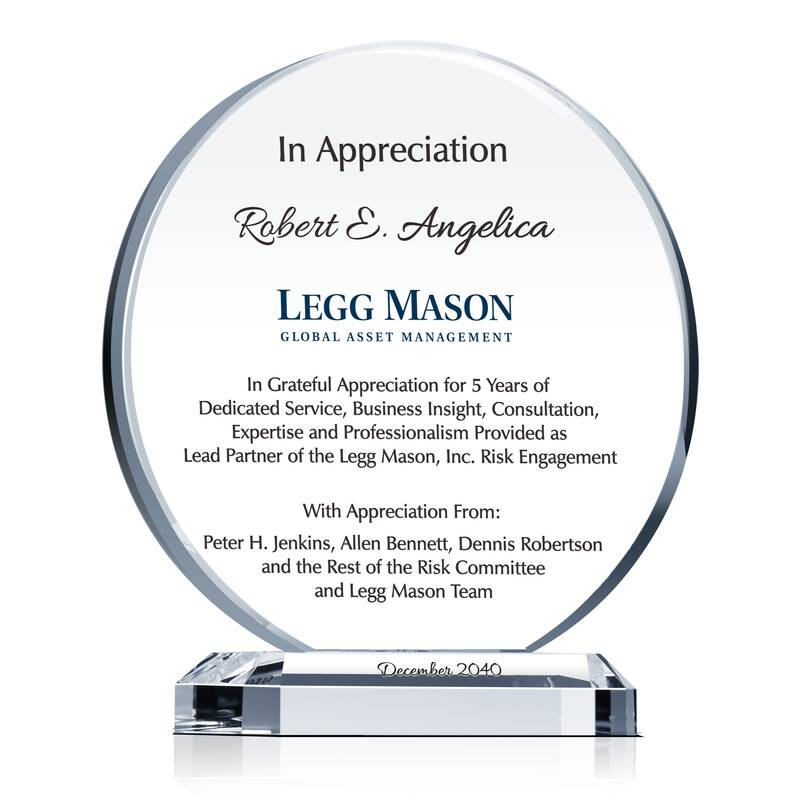 appreciation award text