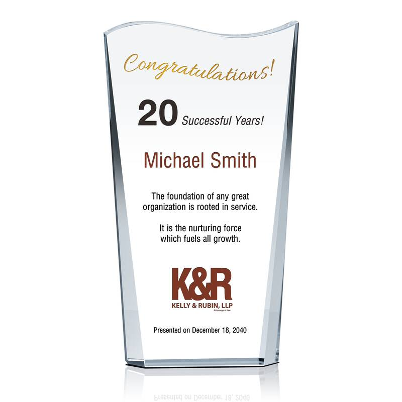 Business Owner Anniversary Award Wording Sample By