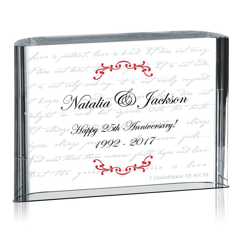 Love is Patient Wedding Anniversary Gift