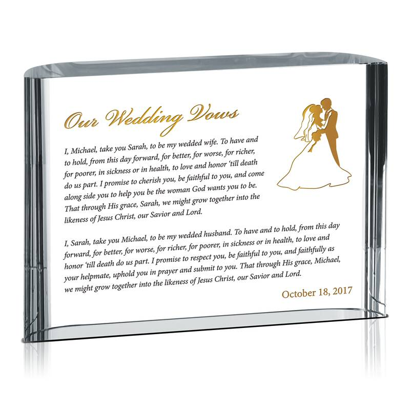 Our Wedding Vows Spiritual Gift Wording Sample By Crystal Central