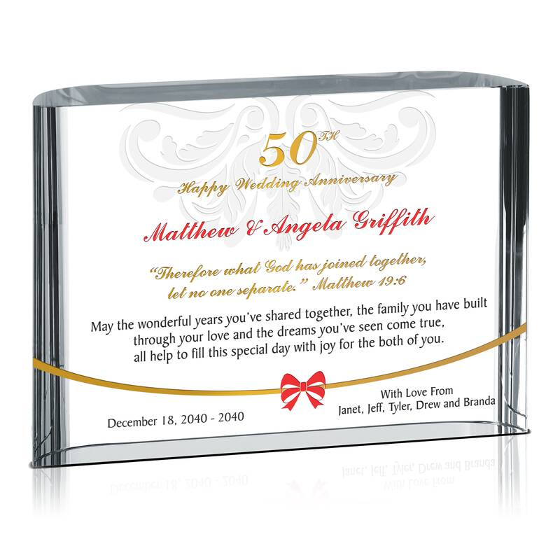 Happy Anniversary Gifts For Parents: Happy 50th Anniversary Gift To Parents