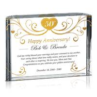 Religious 50th Golden Wedding Anniversary Gift for Parents