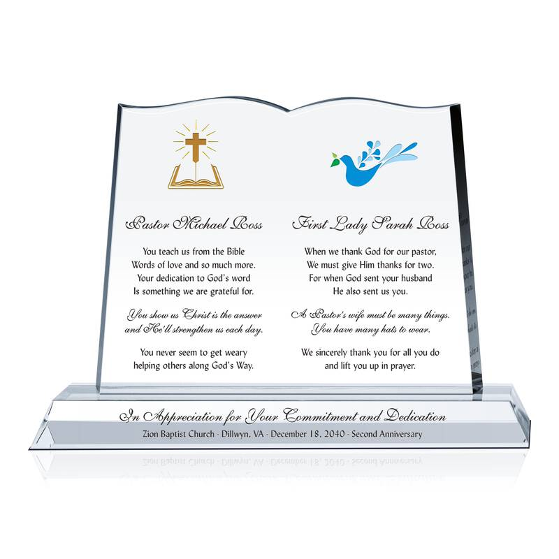 Pastor and Wife Gift for Church Anniversary - Wording ...