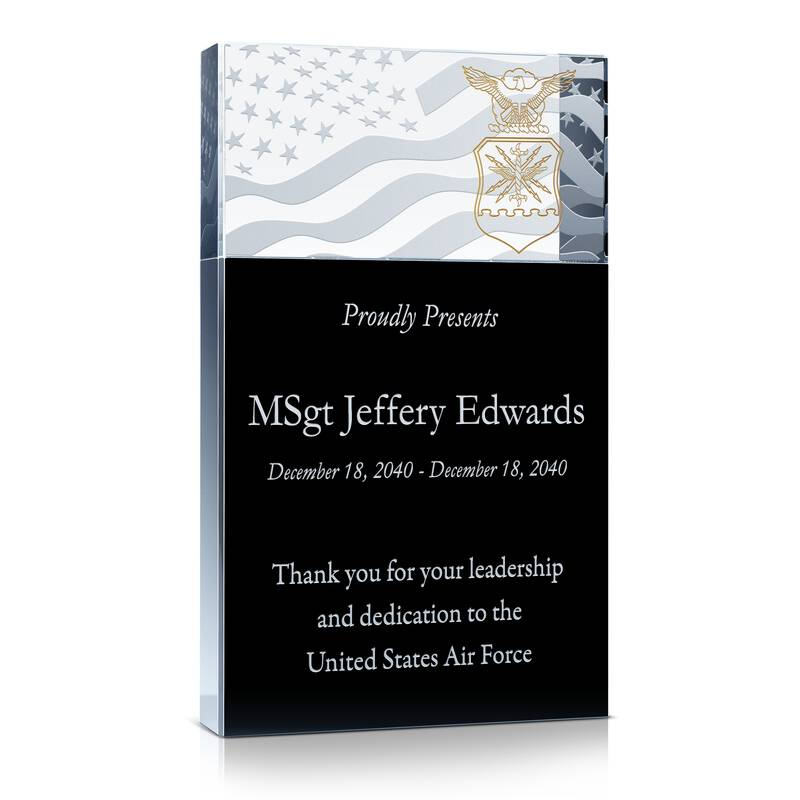Air Force Appreciation Gift Wording Sample By Crystal