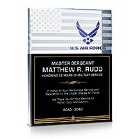USAF Service Recognition Gift Plaque