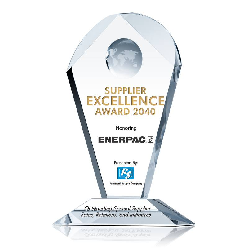 Sample Supplier Recognition Plaque