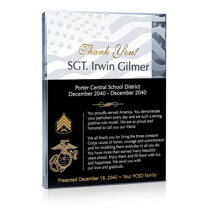 Marine Sergeant Appreciation Gift