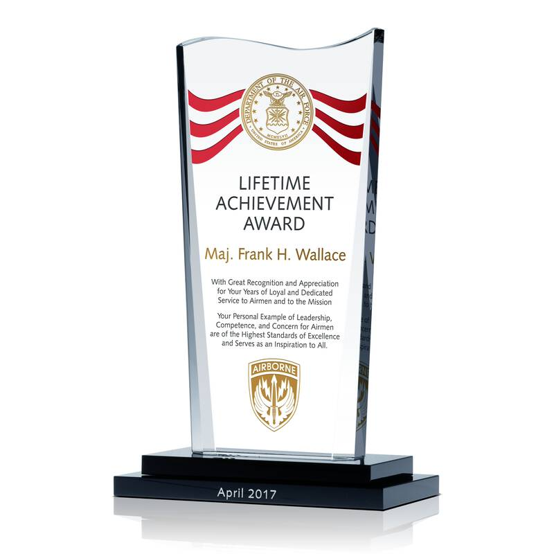 US Air Force Lifetime Achievement Award  Achievement Award Wording