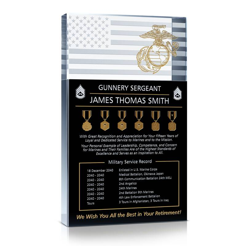Marine Corps Service Retirement Gift Wording Sample By