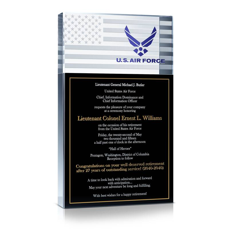 Air Force Retirement Ceremony Invitation Gift Wording