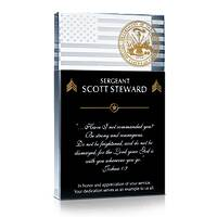 Army Soldier's Creed Plaque