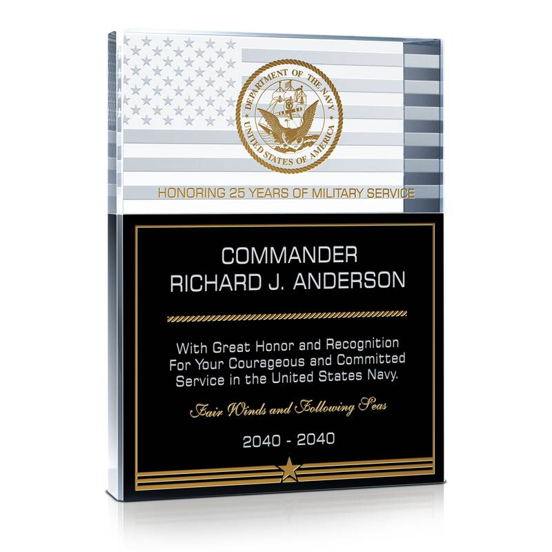 Us Navy Military Service Recognition Gift Wording Sample