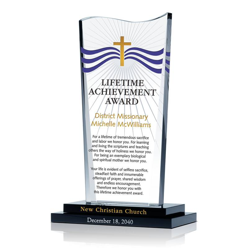 Christian Lifetime Achievement Award  Achievement Award Wording