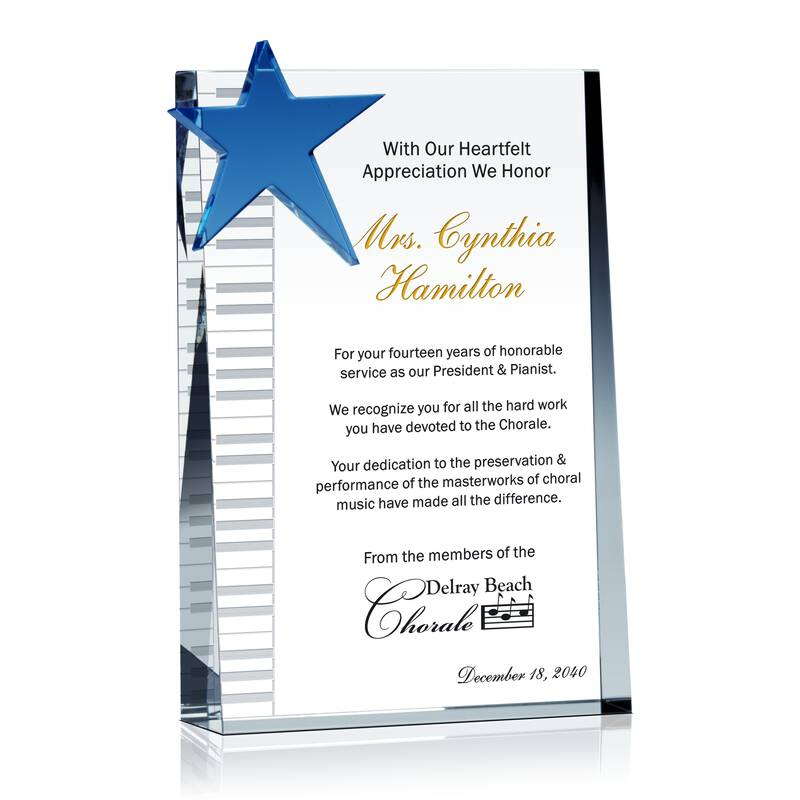Choir Director Appreciation Gift Wording Sample By
