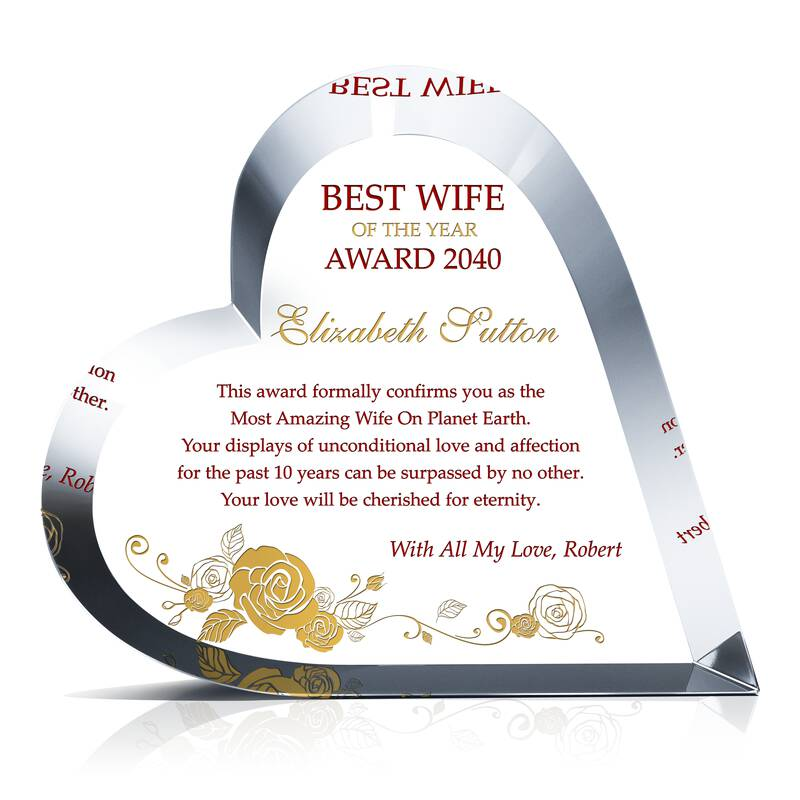 Best Wife Of The Year Award Wording Sample By Crystal