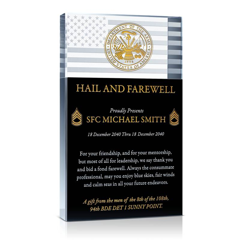 Farewell Military Retirement Gift