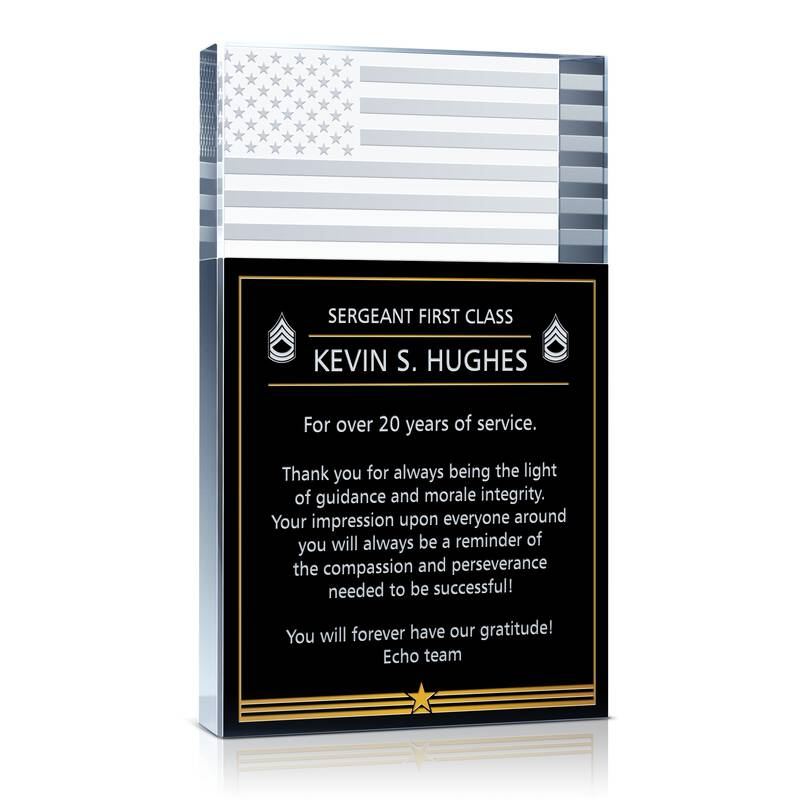 Military Retirement Gift For Sergeant Wording Sample By