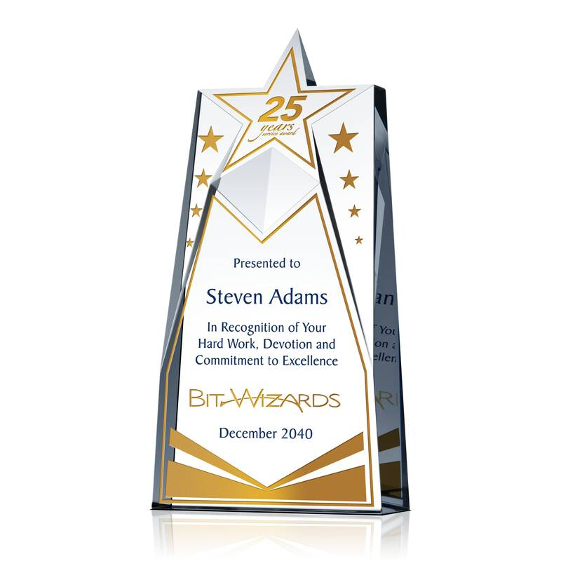 Star Years Service Award Wording Sample By Crystal Central