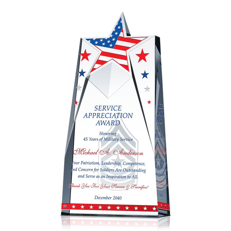 Veteran Service Appreciation Gift Wording Sample By