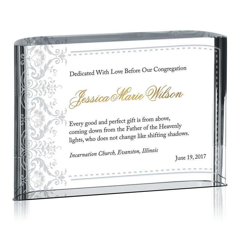 Dedication Certificate For Girls Wording Sample By