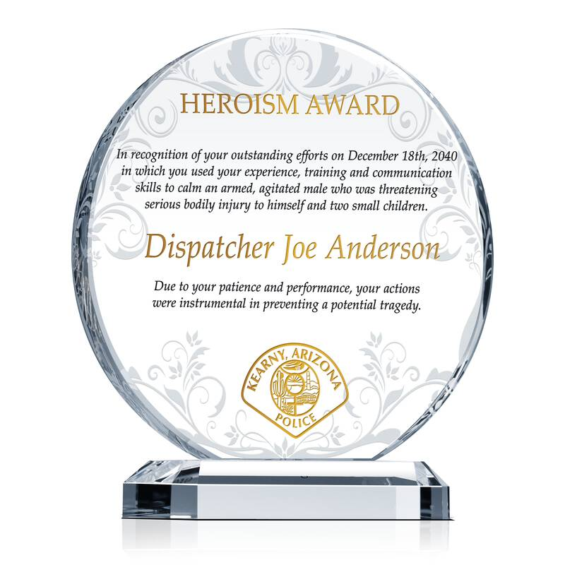 Police Hero Award Wording Sample By Crystal Central