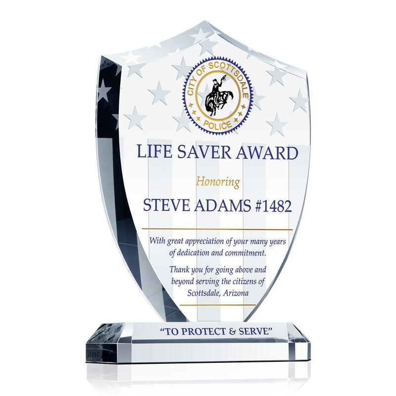 Police Life Saver Award Gift Wording Sample By Crystal