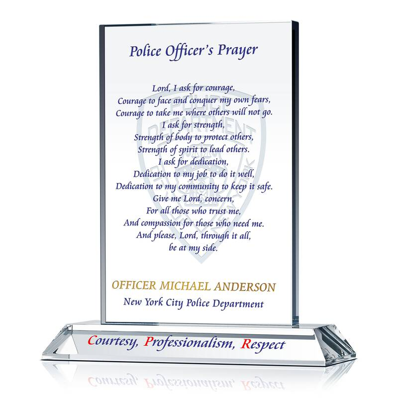 Police Prayer Plaque with NYPD motto