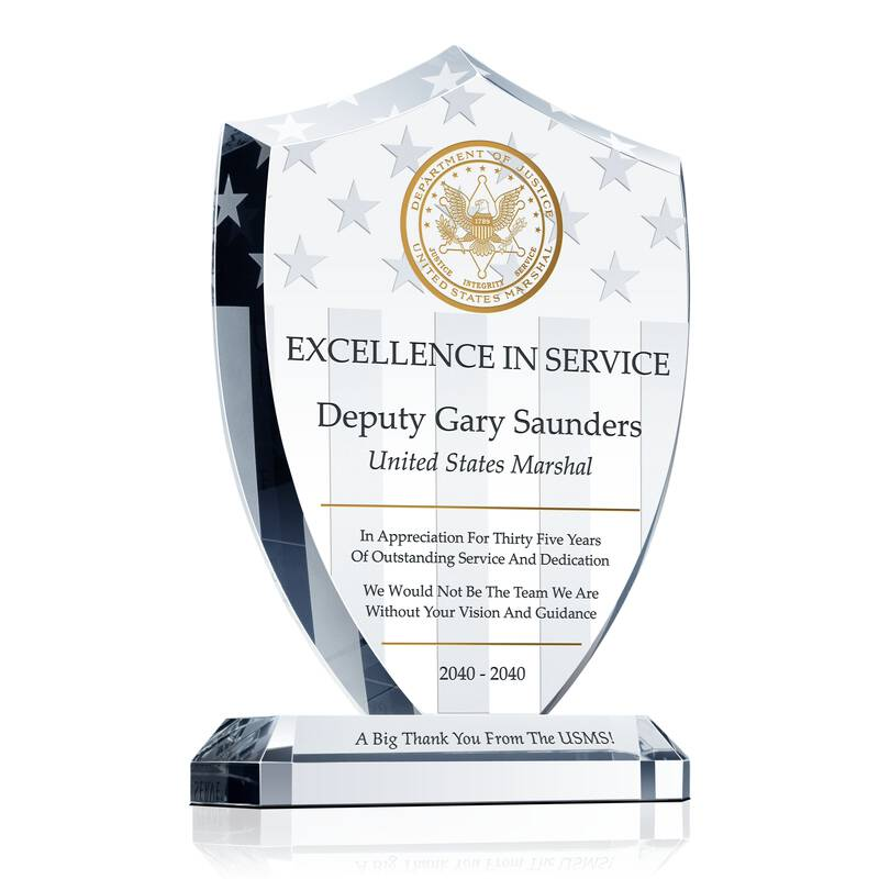 Shield Service Recognition Award
