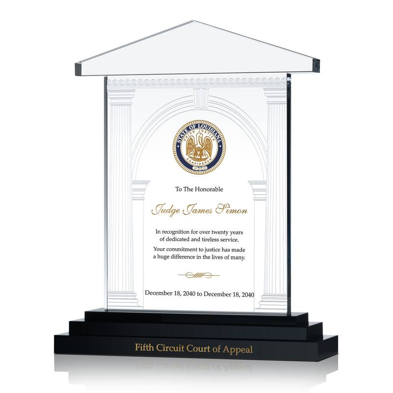 Court Judge Recognition Award Wording Sample By Crystal