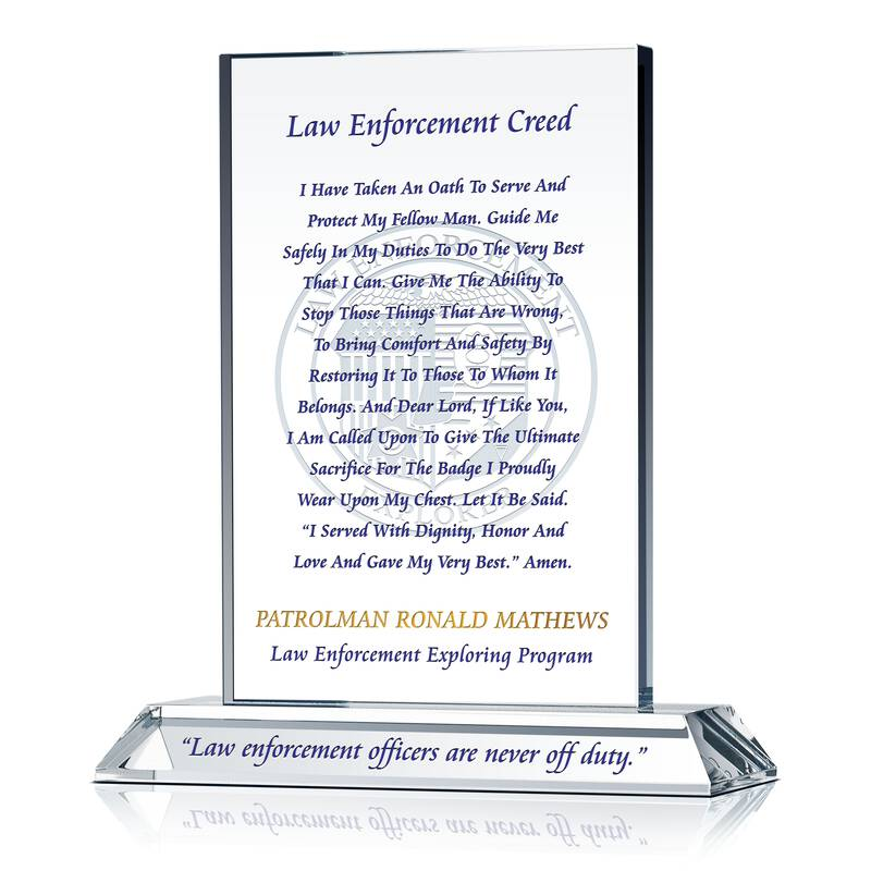 Law Enforcement Creed Plaque