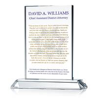 District Attorney Quote Plaque