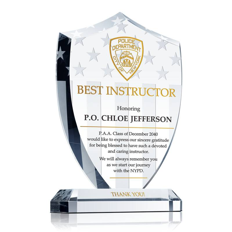 Police Academy Instructor Gift Plaque