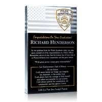 Law Enforcement Graduation Gift Plaque