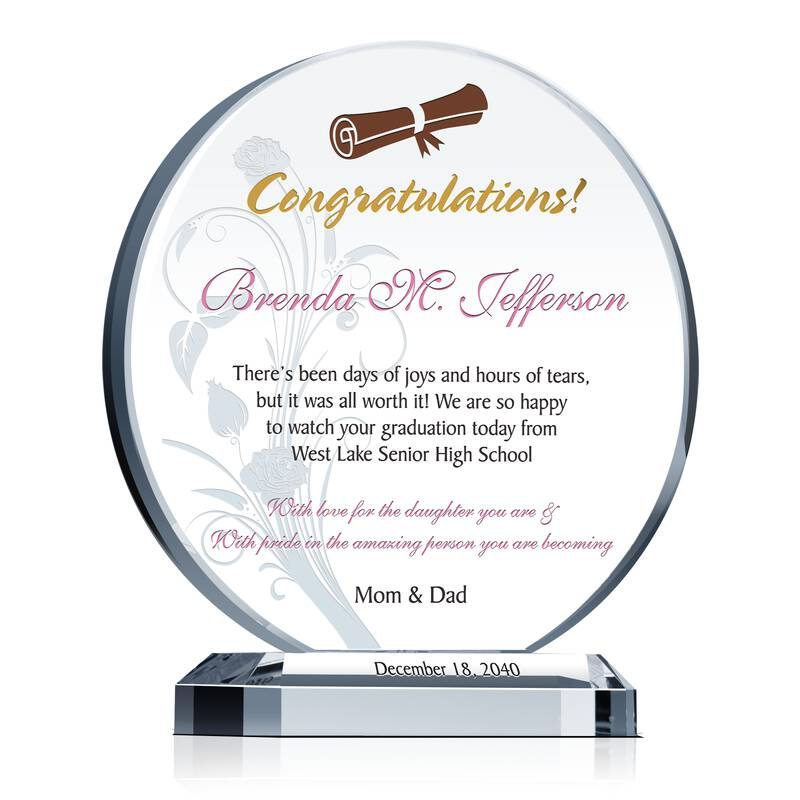 Personalized graduation gifts for her gift ftempo for Engravable gifts for her