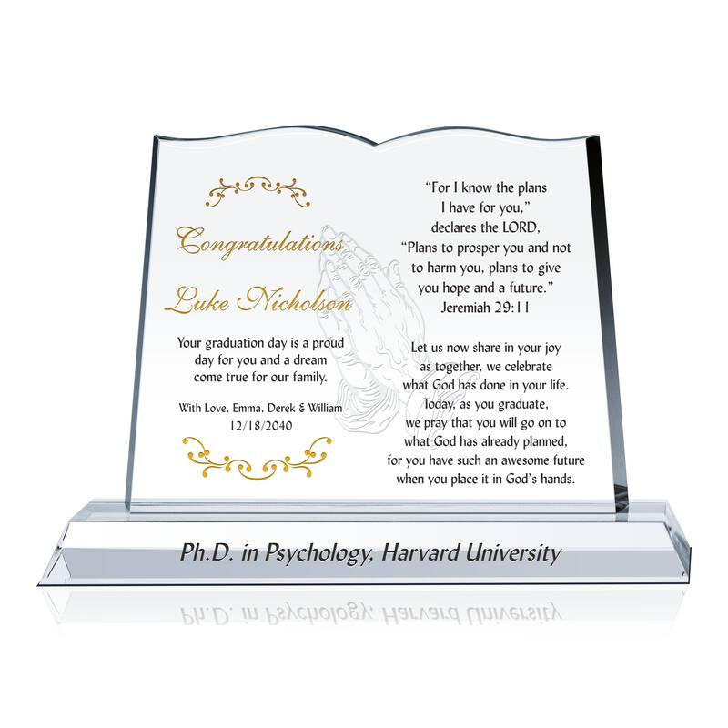 religious phd graduation gift wording sample by crystal central