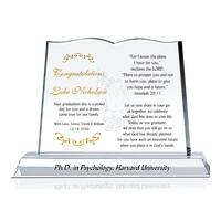Religious PHD Graduation Gift  sc 1 st  Crystal Central & MBA Graduation Gift from Family - Wording Sample by Crystal Central