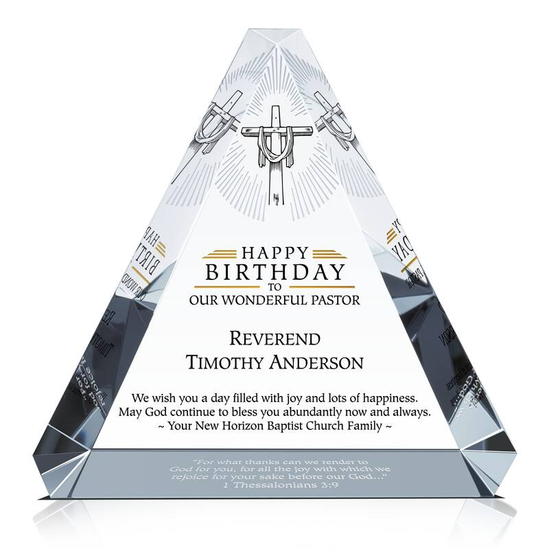 Happy Birthday Gift Plaque for Pastor