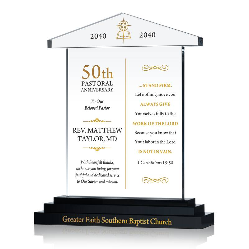 Pastor 50th Anniversary Sample Verse Wording Sample By