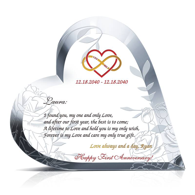 Forever In Love Anniversary Gift Sample Wording Sample