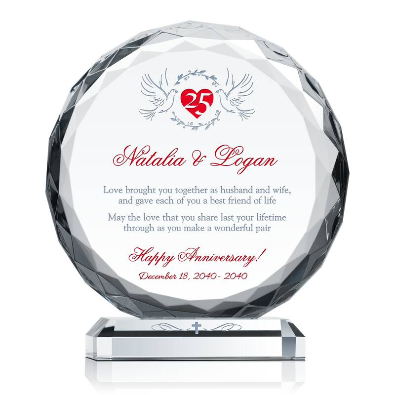 Religious 25th Anniversary Gift Ideas Wording Sample By