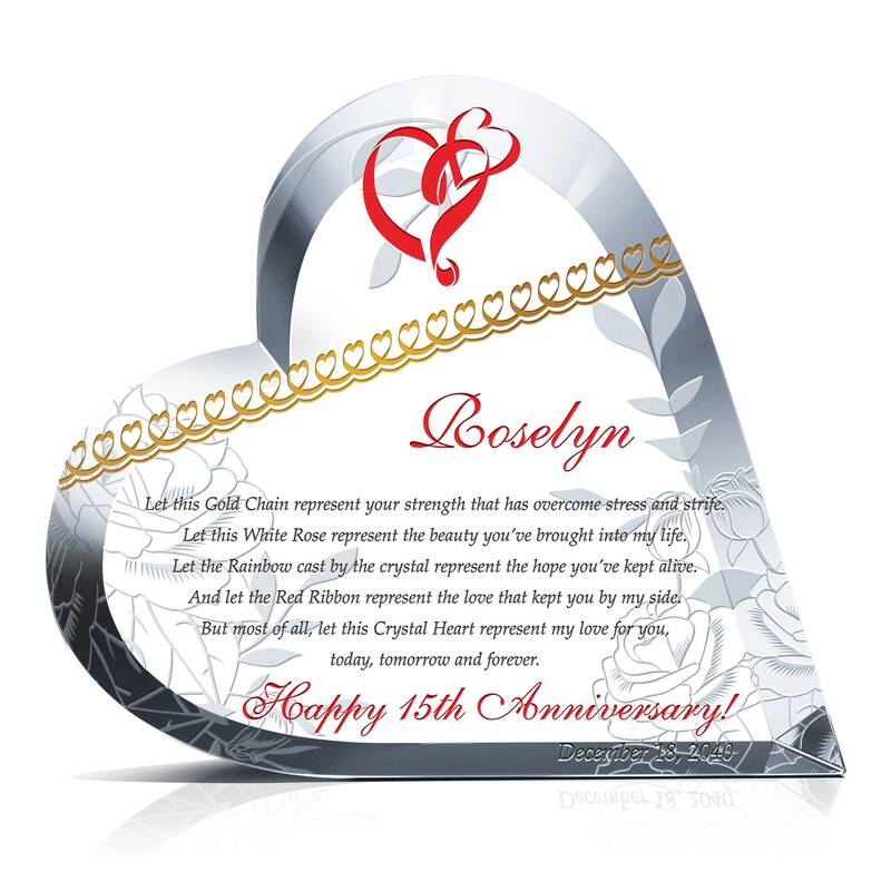 Sample 15th Wedding Anniversary Poem