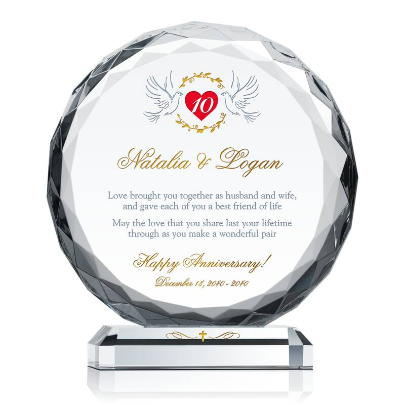 Christian 10th Wedding Anniversary Gift Wording Sample