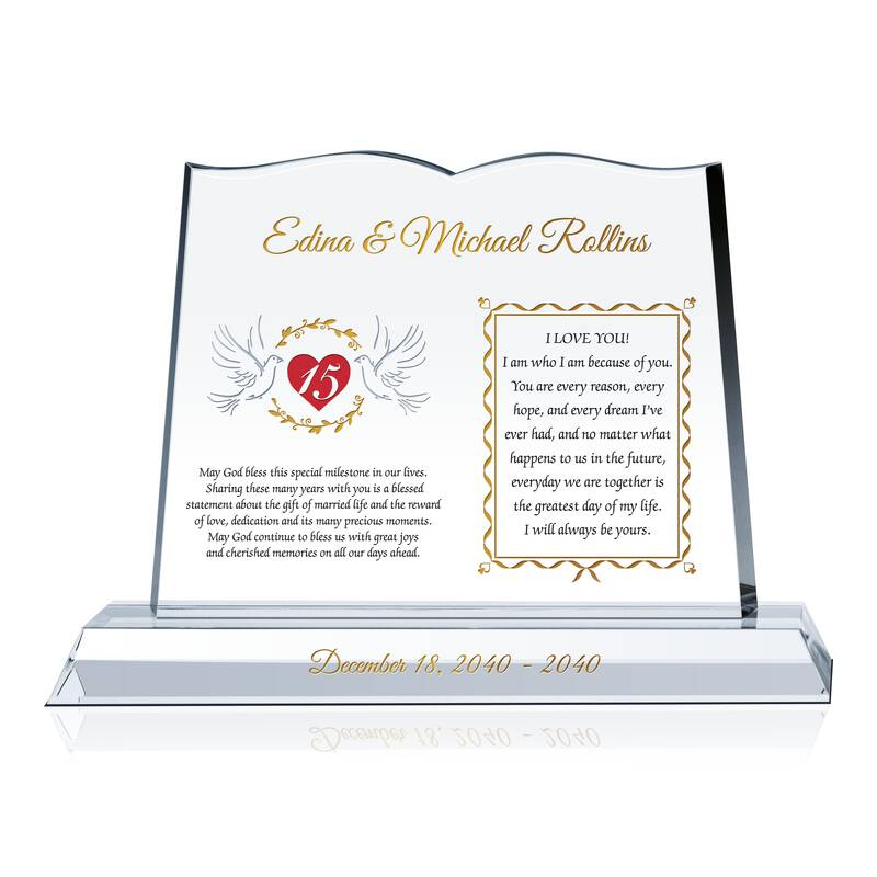 Christian 15th Anniversary Present Wording Sample By Crystal Central