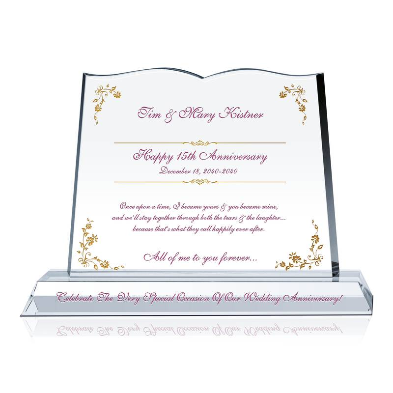 Traditional Gift For 15th Wedding Anniversary: Wedding Anniversary Tributes To Husband