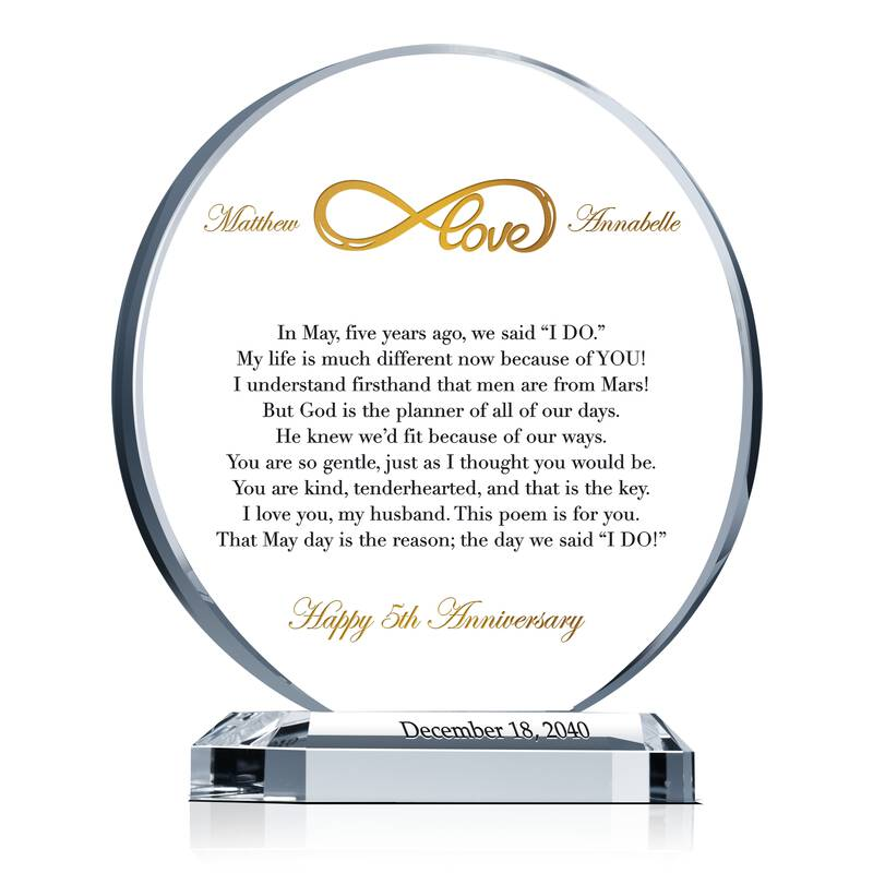 Sample 5 Year Anniversary Poem Wording Sample By Crystal Central