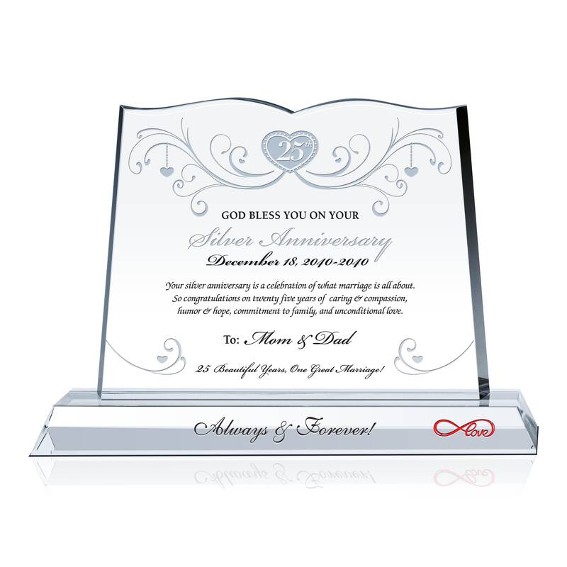 Christian Silver Anniversary Gift for Parents