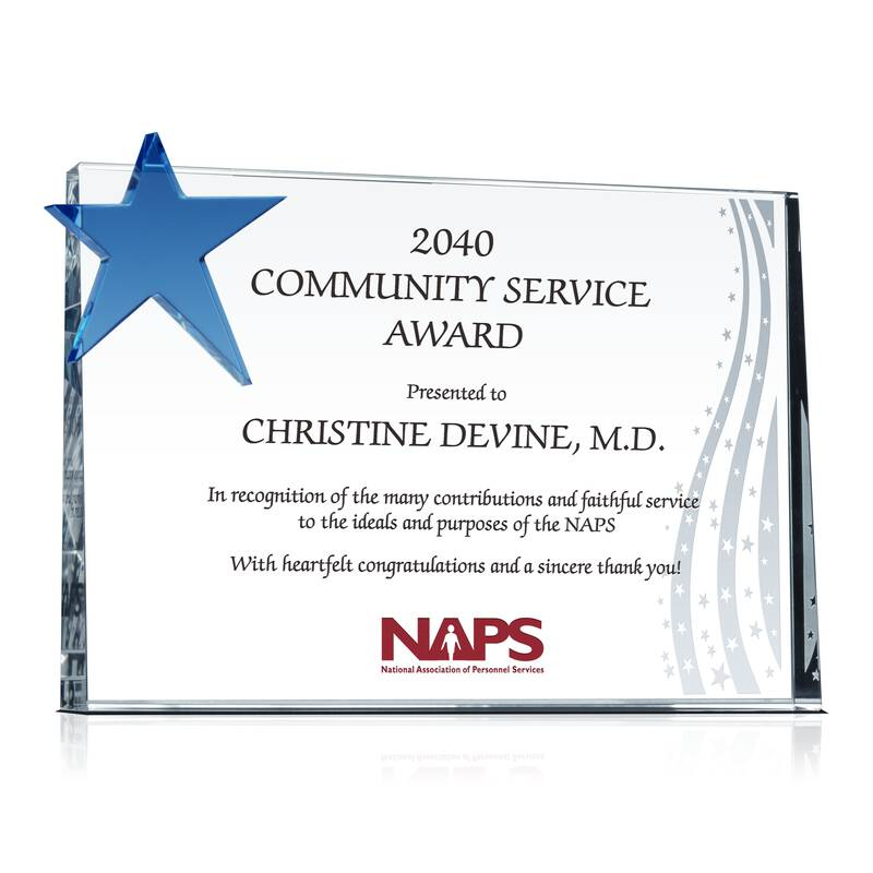 Community Service Appreciation Award - Wording Sample by ...